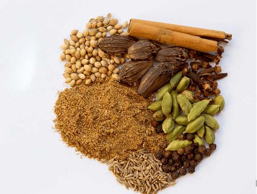 مكونات بهارات جرام ماسالا الهندية