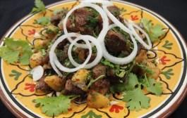 طبق البطاطس باللحم من المطبخ الكازخستاني