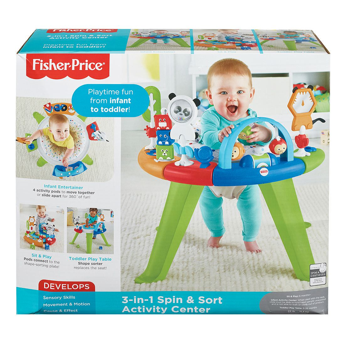 Baby Activity Center Fisher Price 3 In 1 Spin Sort Activity Center
