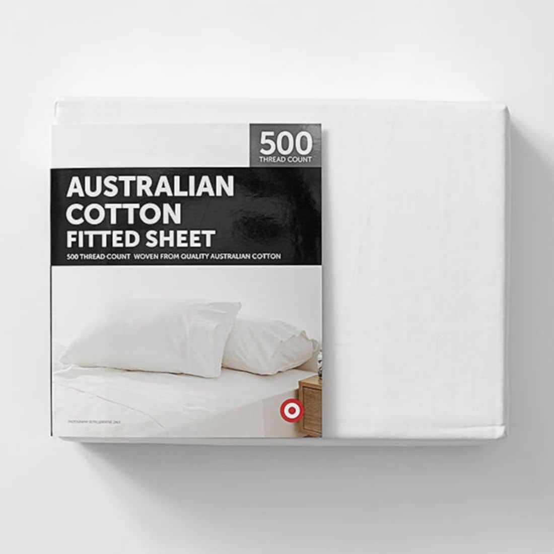 Double Bed Fitted Sheet Target 500 Thread Count Australian Cotton Fitted Sheet
