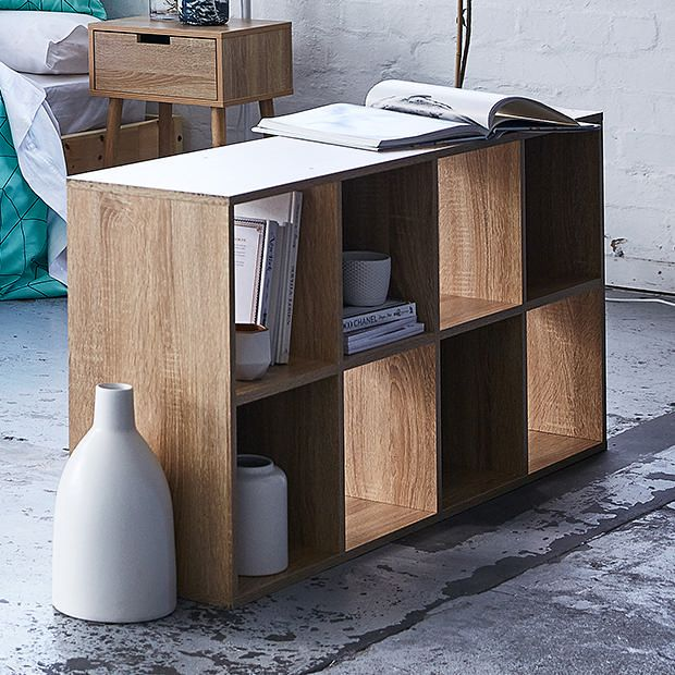 Target Australia Furniture 8 Cube Storage Unit Wood Look