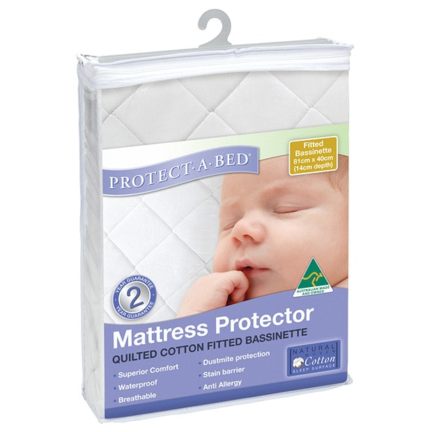 Bassinet Matress Protector Protect A Bed Quilted Bassinet Mattress Protector Large