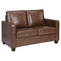 Square Arm Bonded Leather Loveseat - Threshold | eBay