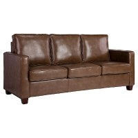 Square Arm Bonded Leather Sofa - Threshold | eBay