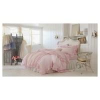 Ruffle Duvet & Sham Set Full/Queen - Pink - Simply Shabby ...