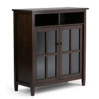 Warm Shaker Medium Storage & Media Cabinet - Tobacco Brown ...