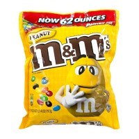 M&M's Peanut Milk Chocolate Candies XXL Bag - 56oz : Target