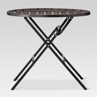 Bryant 32quot Round Faux Wood Folding Patio Bistro Table