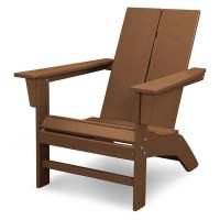 St. Croix Contemporary Adirondack Chair - Teak - POLYWOOD ...