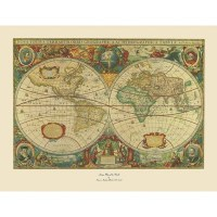 'Old World Map Painting' Ready to Hang Canvas Wall Art ...