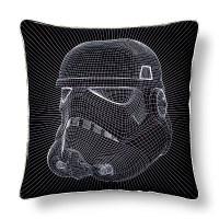 "Stormtrooper Helmet Grid Pillow (15""x15) Black - Star Wars ..."
