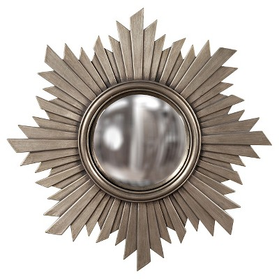 Decorative Brushed Nickel Mirror Sunburst Euphoria Decorative Wall Mirror Dark Silver Howard