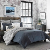 Charcoal Kingston Comforter Set (Twin) - Eddie Bauer : Target