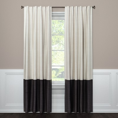 Target Curtain Panels Details About Target Project 62 Blackout Curtain Panel Color Block Library Gray 50x84 New