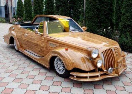 carro 011 [modding] Na Ucrânia, fizeram este carro de madeira, com um resultado incrível.