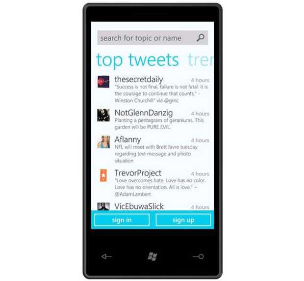 twitter windows phone 7 Twitter atualiza o seu aplicativo para Windows Phone, que conta agora com sistema de notificações