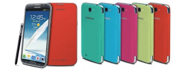 flipcover 580x234 Conheça as flip covers oficiais da Samsung para o Galaxy Note II e Galaxy S III