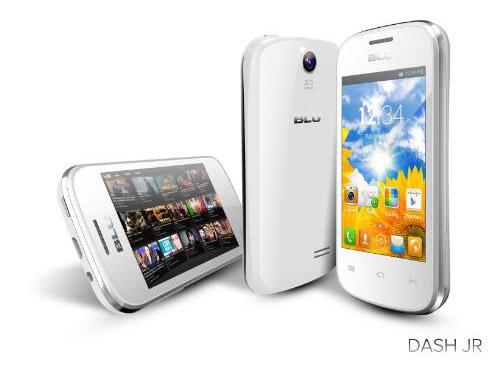 dash jr BLU anuncia três novos smartphones Android: DASH JR, DASH MUSIC 4.0 e DASH MUSIC 5.0