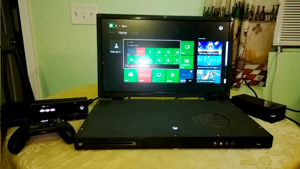 xboxonelaptop Vídeo | Modder transforma Xbox One em um laptop para games de 22 polegadas