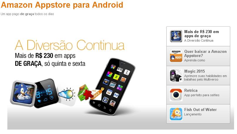 amazon android gratis Amazon oferece (de novo) mais de R$ 230 em aplicativos grátis, por 48 horas