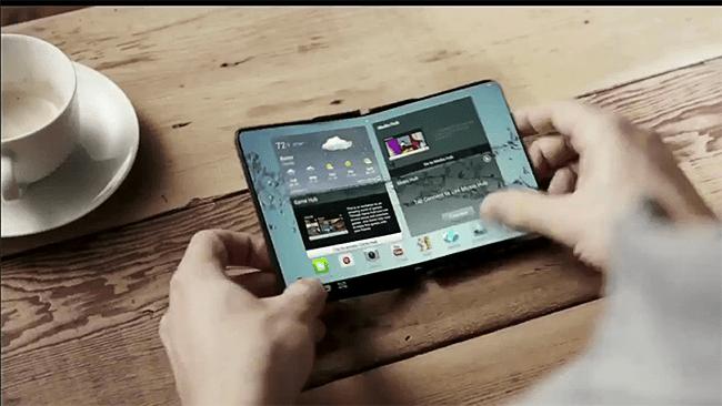 650 1000 samsung flexible Smartphone da Samsung que se dobra ao meio será lançado no final de 2015