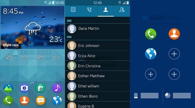 650 1000 tizen pantallas Vazaram as interfaces do primeiro smartphone Tizen, que tem a cara da TouchWiz
