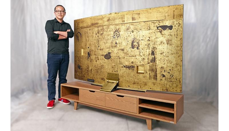 samsung oro Samsung veste sua TV curva de 78 polegadas com ouro puro
