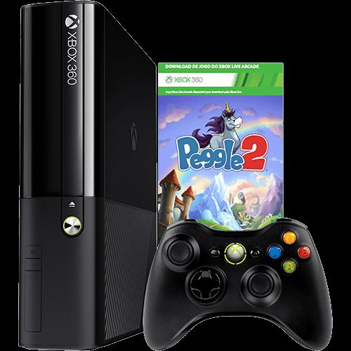 121163797 1GG 1 Dicas de Compras   Console Xbox 360 4GB + Game Peggle 2, por R$ 599