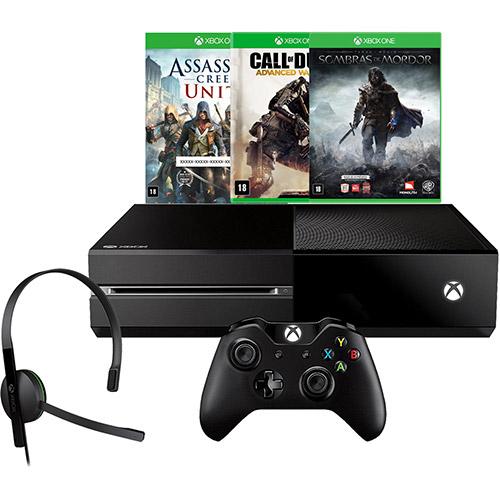 121386430 1GG Dicas de Compras   Console Xbox One 500GB + 3 Jogos, por R$ 1.499