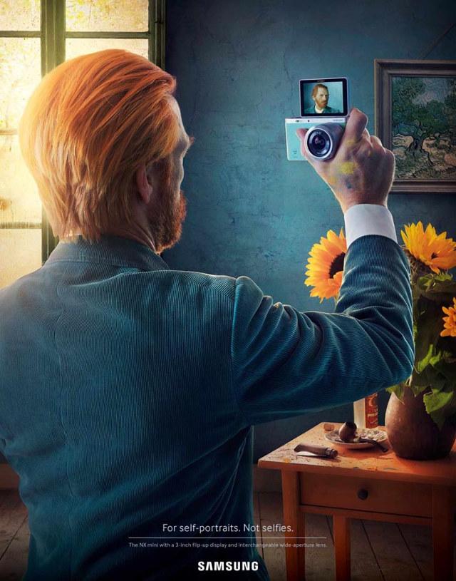 famous self portrait selfies 1 Quadros históricos tiram selfies em nova propaganda da Samsung