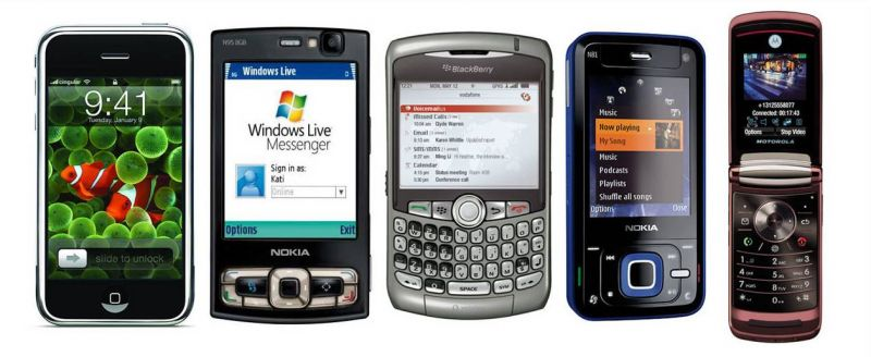 Celulares e smartphones de 2007
