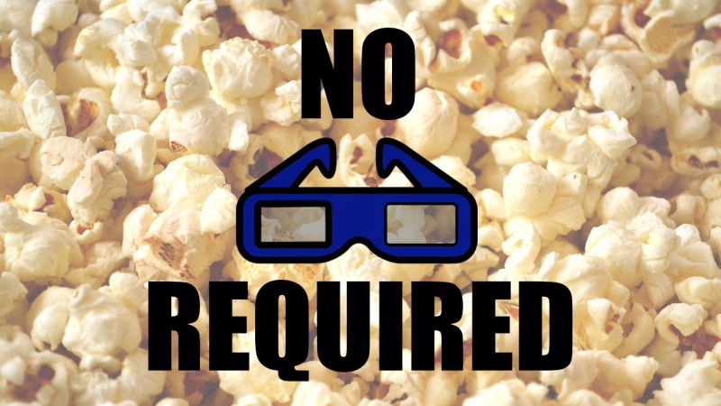 cinema 3d sem óculos