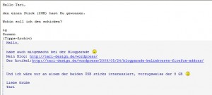 Email von Susann