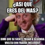 Meme sobre balotaje en Tarija