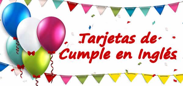 ➤ Tarjetas con Mensajes de Cumpleaños en Inglés 【GRATIS】