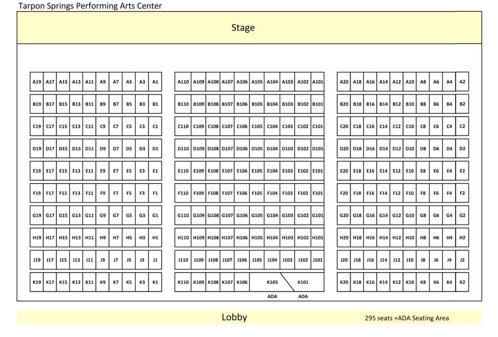 Venue Seating Charts - Tarpon Arts