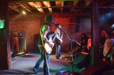 Pictured left to right: Trevor William Church (guitar/vocals) and John Tucker (bass) from the band Beastmaker during their stop at The Masquerade while on tour with Monolord.