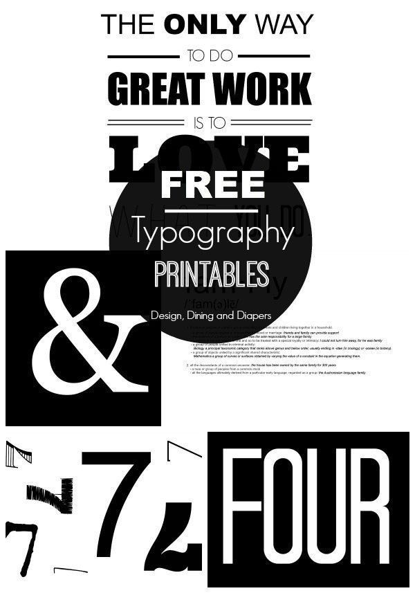 FREE Black and White Printables - Taryn Whiteaker