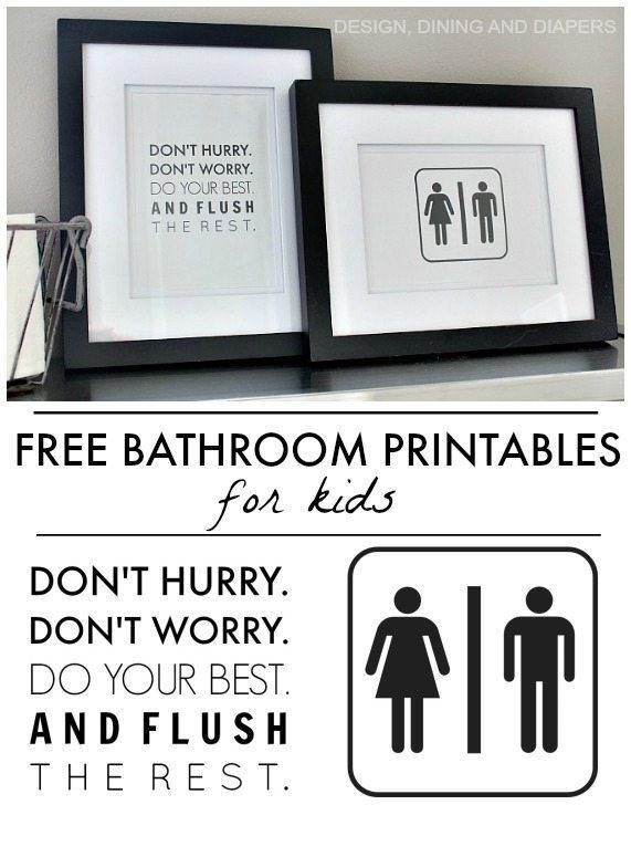 Free Bathroom Printables - Taryn Whiteaker