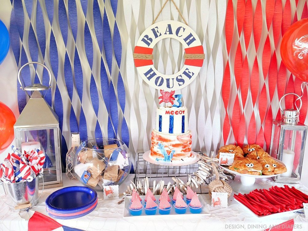 Nautical Birthday Party Ideas - Great For A Kid\u0027s Party - birthday party design