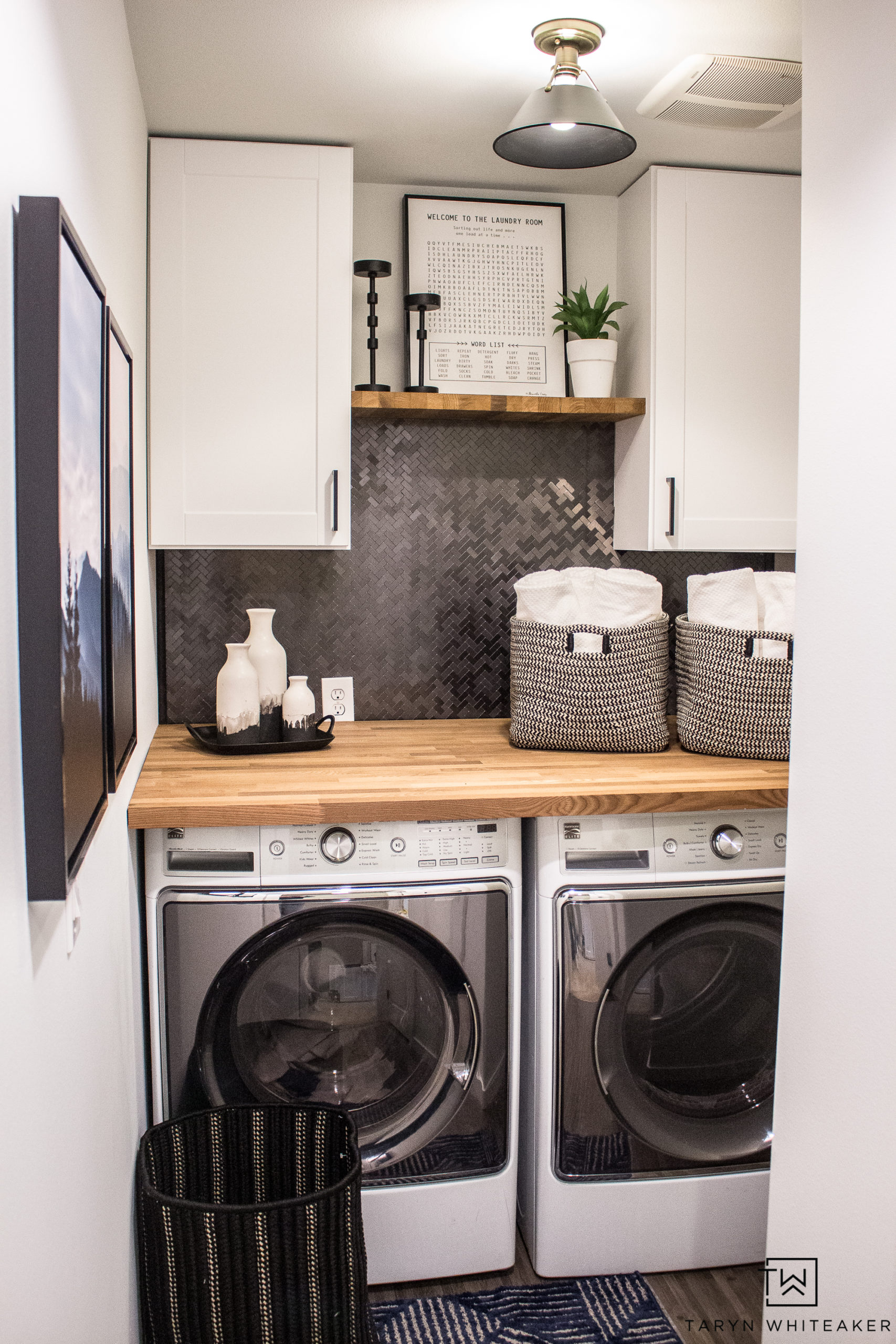 Small Laundry Room Makeover Taryn Whiteaker