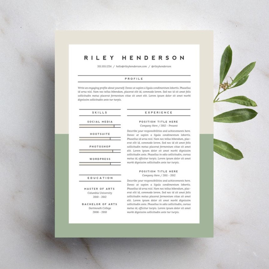 15 Beautiful Resumes You Can Buy on Etsy Taryn Williford - beautiful resume templates