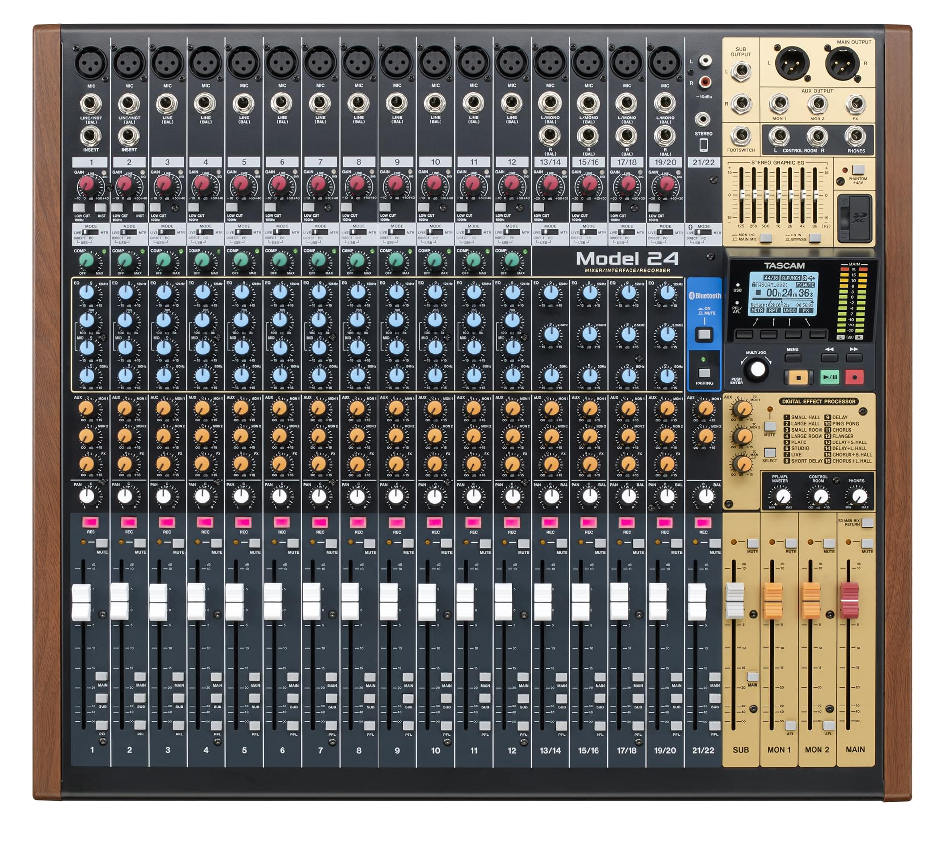 N24 Now Tascam Model 24 22 Channel Analogue Mixer With 24 Track Digital