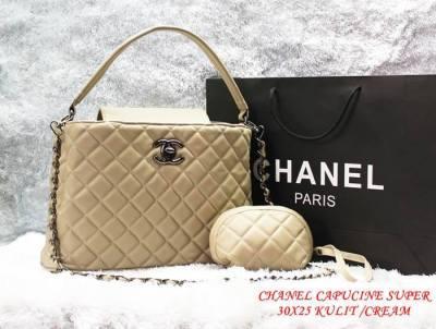 Chanel Capucine Set Dompet Super Bahan Kulit Kualitas Super Grosir Tas