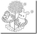 桜 塗り絵用白黒イラストまとめその14