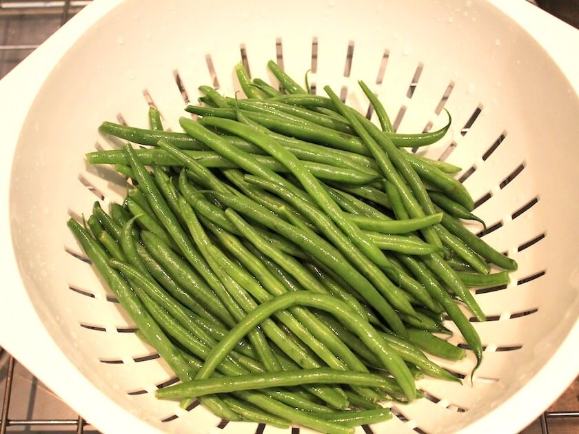 ... green bean. They are tender, and a really beautiful bright green