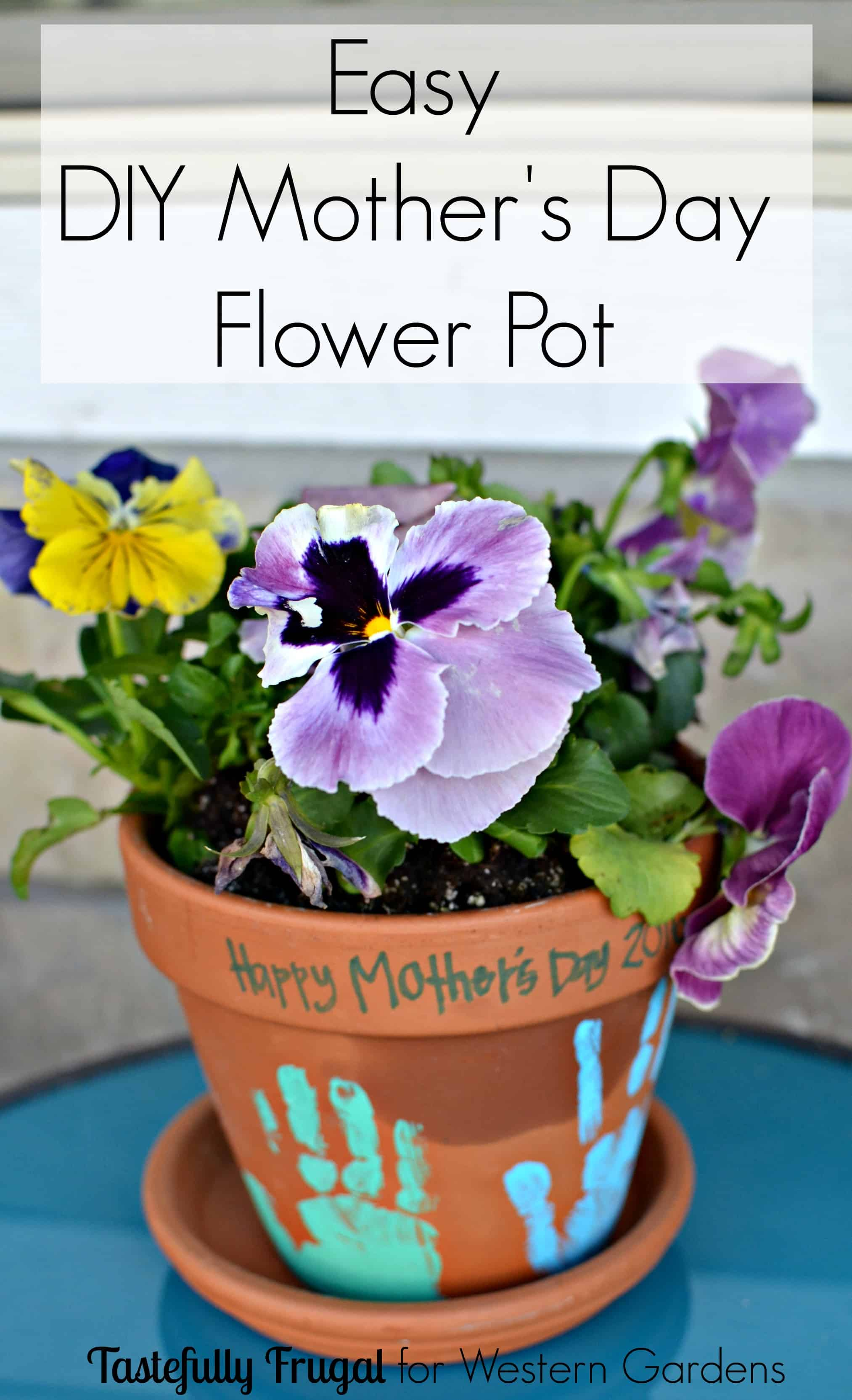 Diy Mothers Day Gifts For Grandma Diy Flower Pot Mother 39s Day Gift Tastefully Frugal