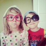 Cara and Ollie as hipsters 2.9.13