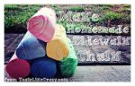 Make homemade sidewalk chalk!