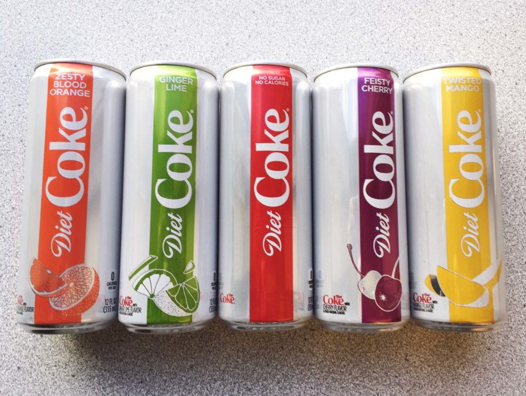 Diet Coke We Tried The New Diet Coke Flavors And Here S What We Thought